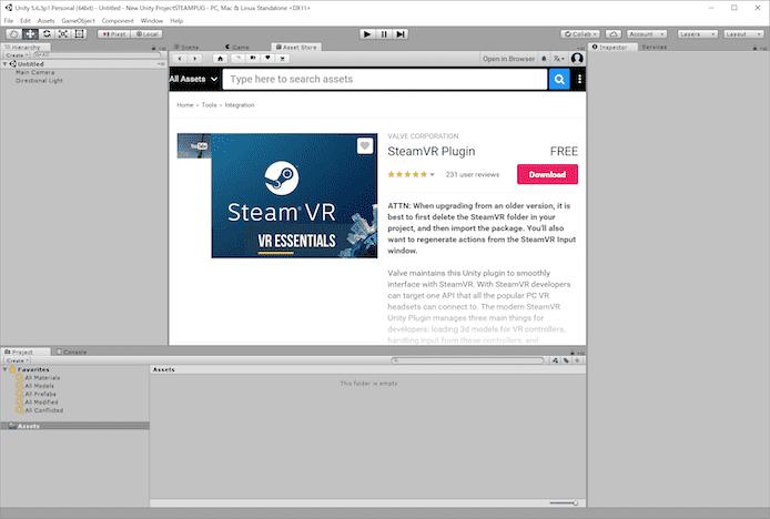 SteamVR Pluginをダウンロードする方法【その後の作業の概要も紹介】